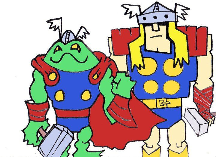'FROG THOR & NORMAL THOR' by Adam Beanish