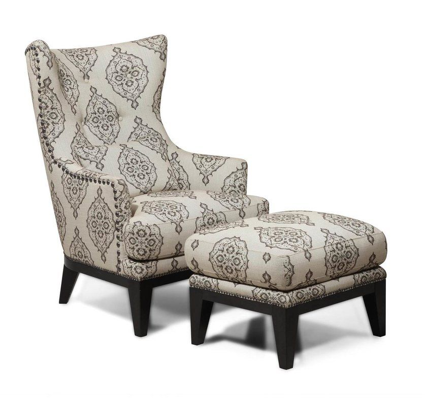 Darby Home Co Baltic Wingback Chair and Ottoman & Reviews ...