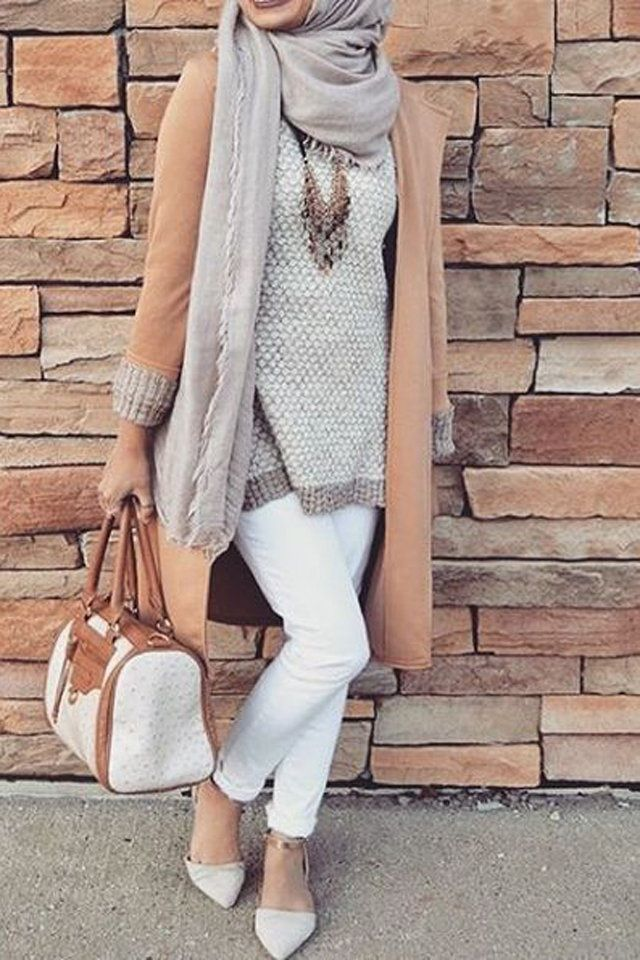 Fall autumn hijab-mode-8   HIJABI ❤ PRINCESS   Hijab fashion ... b0f010cae85