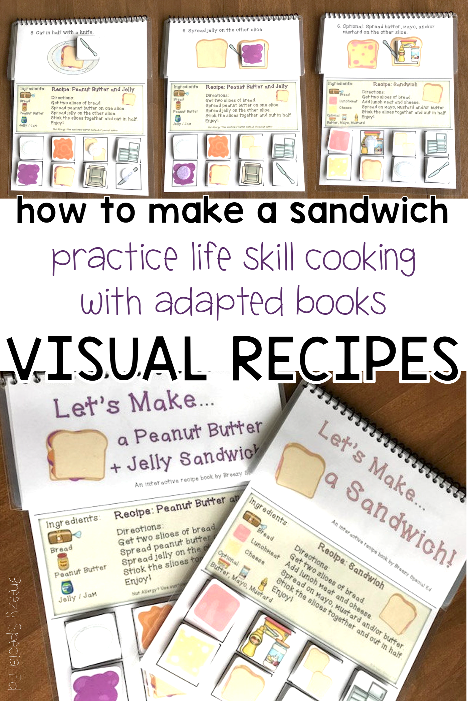 Visual Recipes For Peanut Butter And Jelly Sandwich And