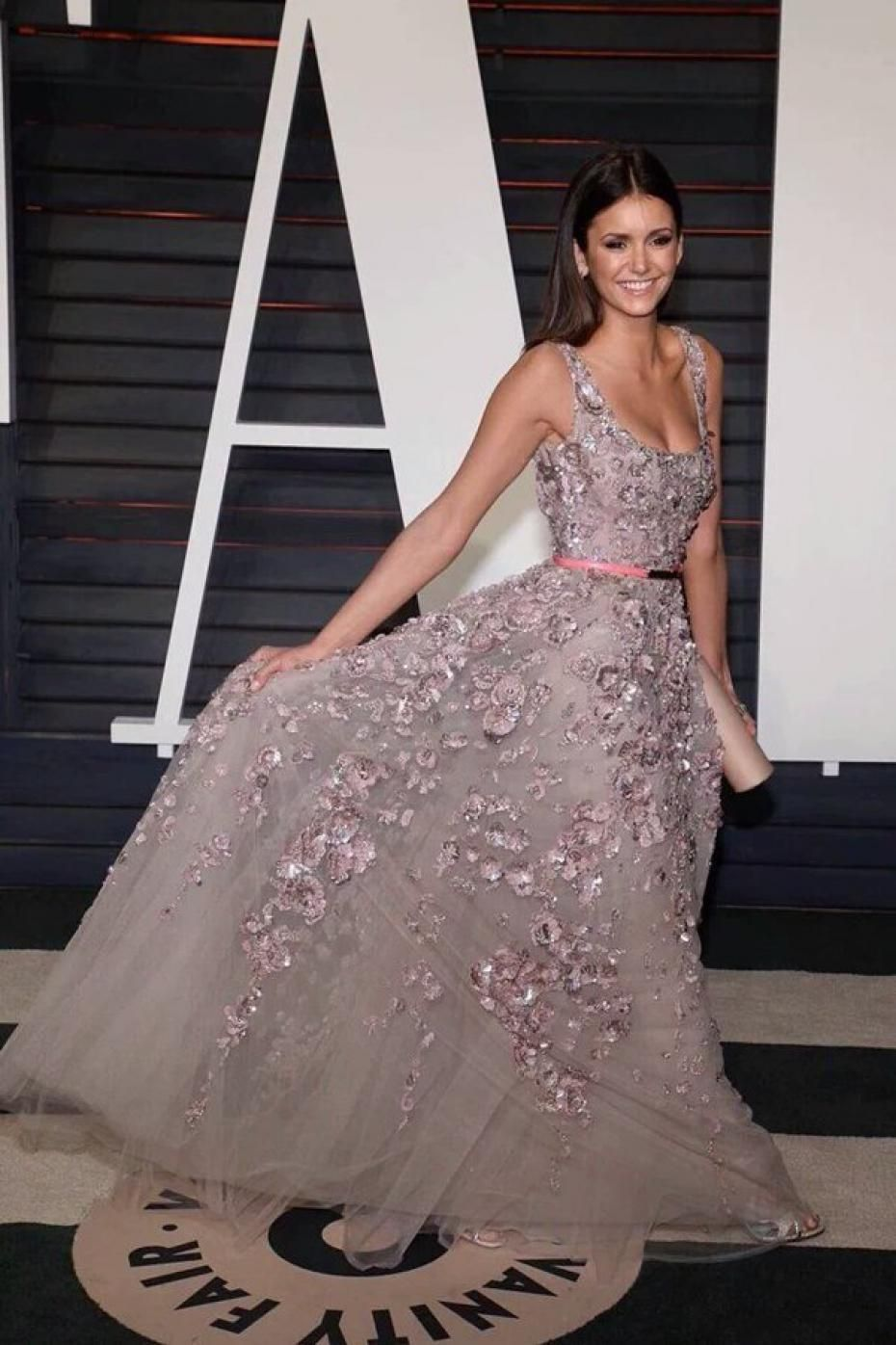 edc31462943d Nina Dobrev in Elie Saab ~ Oscars After party 2016 Επίσημα Φορέματα