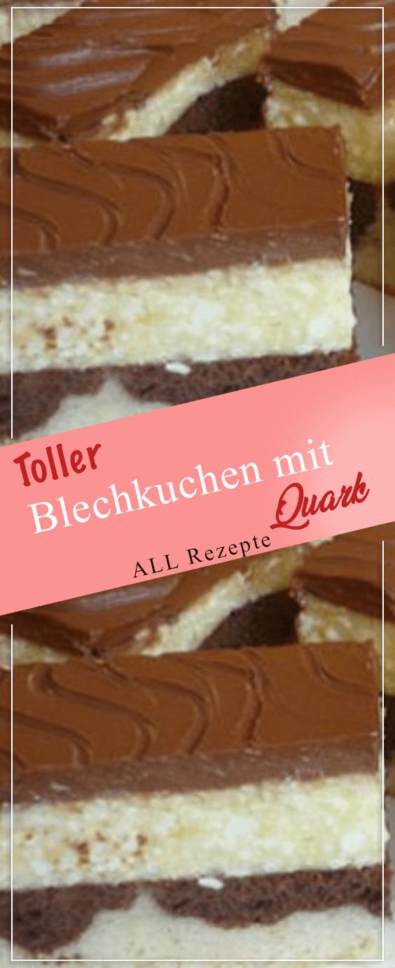 Toller Blechkuchen mit Quark.#Kochen #Rezepte #einfach #köstlich #leckerekuchen