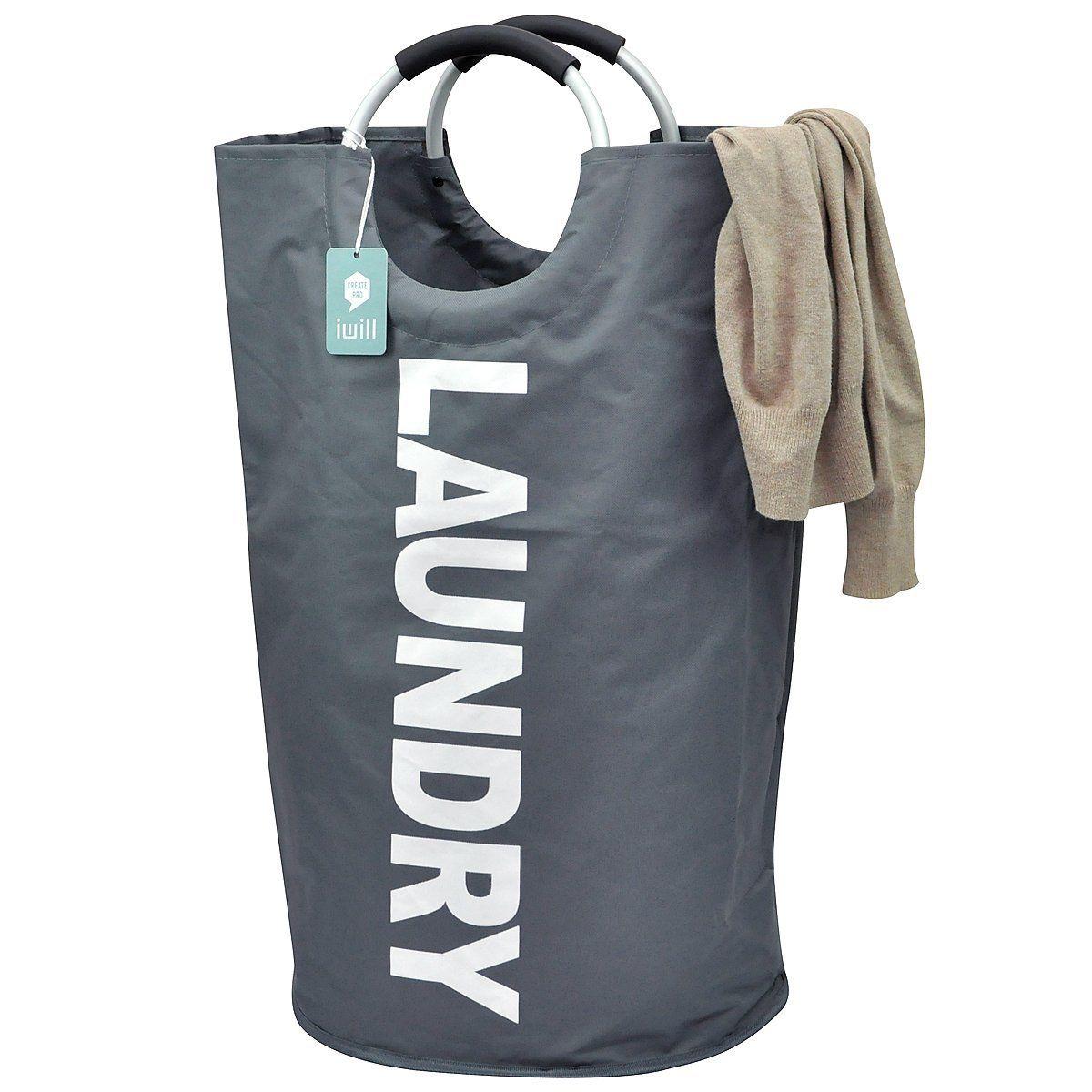 23 99 Amazon Com Foldable Heavy Duty Laundry Basket With Double