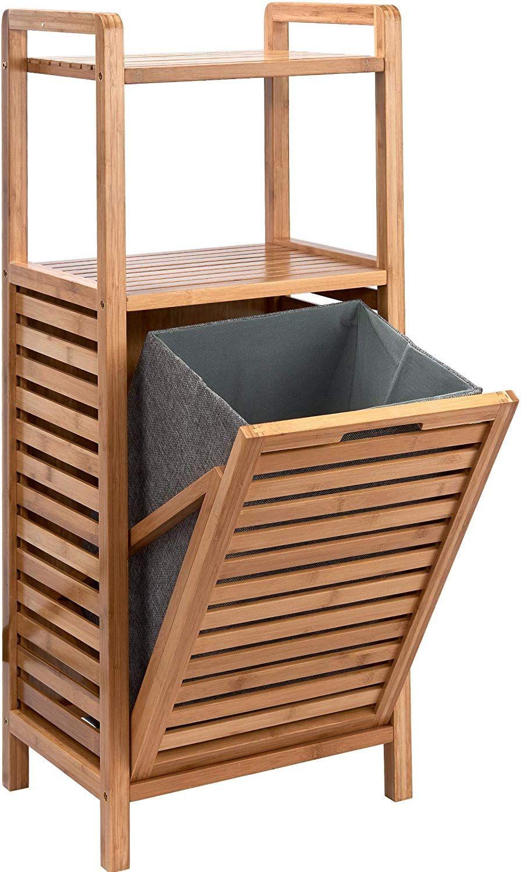 Butlers Big Bamboo Bad Regal Mit Waschekorb Aus Bambus 40x95 Cm Badezimmer Schrank Aus Holz Amazon In 2020 Waschekorb Mobel Zum Selbermachen Badezimmer Dekor Diy