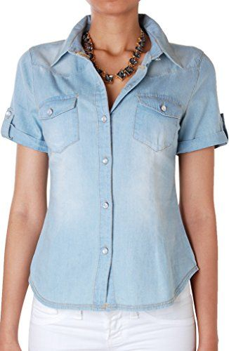 Humble Chic Women's Short Sleeve Chambray Shirt - Blue - LARGE - Soft Washed Denim Button Down, Blue Humble Chic NY http://www.amazon.com/dp/B00XY3C1TI/ref=cm_sw_r_pi_dp_675Lwb002WNBM