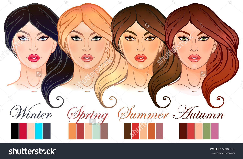 Seasonal Color Types For Women Skin Beauty Set Summer