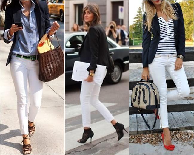 Calça Branca com Camisa Social e Blazer