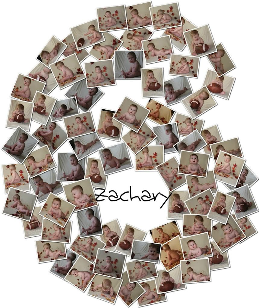 Six Month Baby Collage Idea With Fall Theme (Cute Pictures of Zachary)