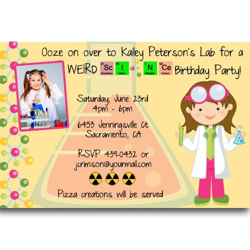 weird science parties – Mad Scientist Birthday Party Invitations