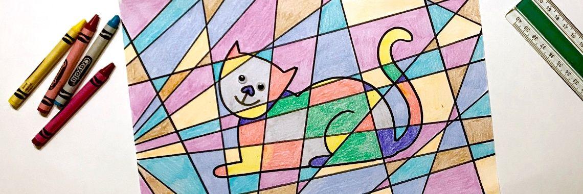 Wonderlijk Mozaiek tekenen en kleuren | Mozaïek knutselen, Eenvoudige AE-47