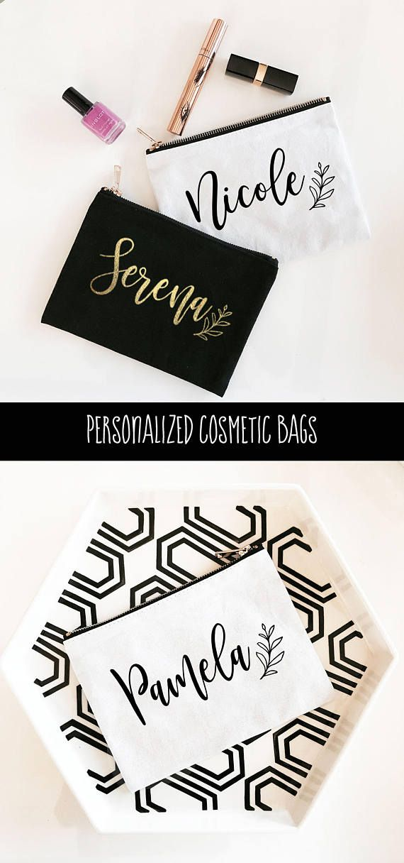 b6ec984be906 Personalized Cosmetic Bag - Bridesmaid Makeup Bag - Personalized Makeup Bags  - Personalized Bridal Party Gifts (EB3222P)
