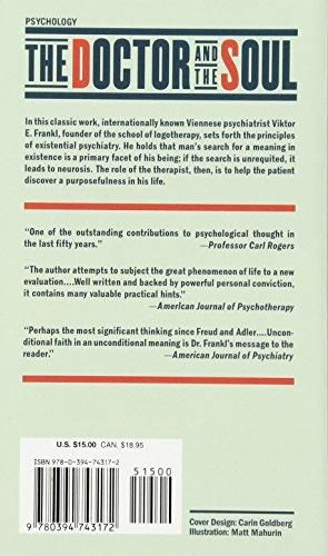 The Doctor and the Soul From Psychotherapy to Logotherapy, Revised