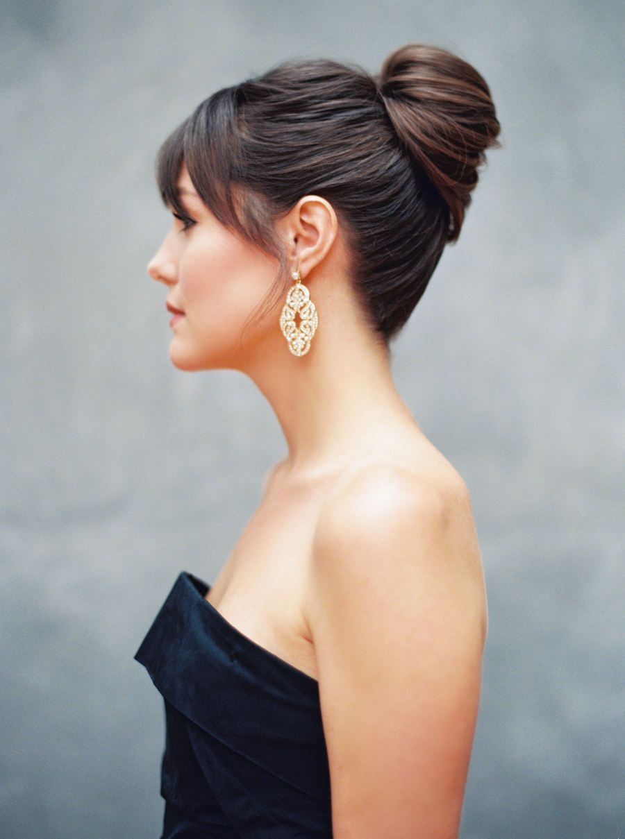 What S Your Favorite Detail In This Shoot We Love The Black Dress Short Wedding Hair Simple Wedding Hairstyles Updo Wedding Hair Inspiration