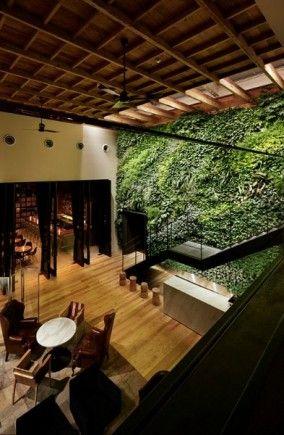 Yoyogi Village / code kurkku Serenity, Japanese and Green walls - dalle beton interieur maison