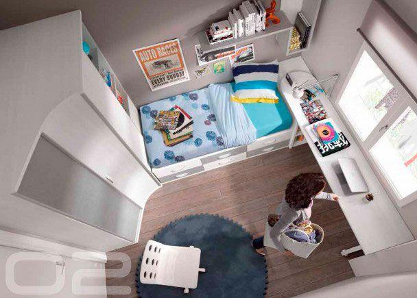 Dormitorio juvenil con armario tipo Game chafln