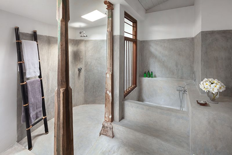 Interiors Of A Bathroom At Claughton House In Sri Lanka By