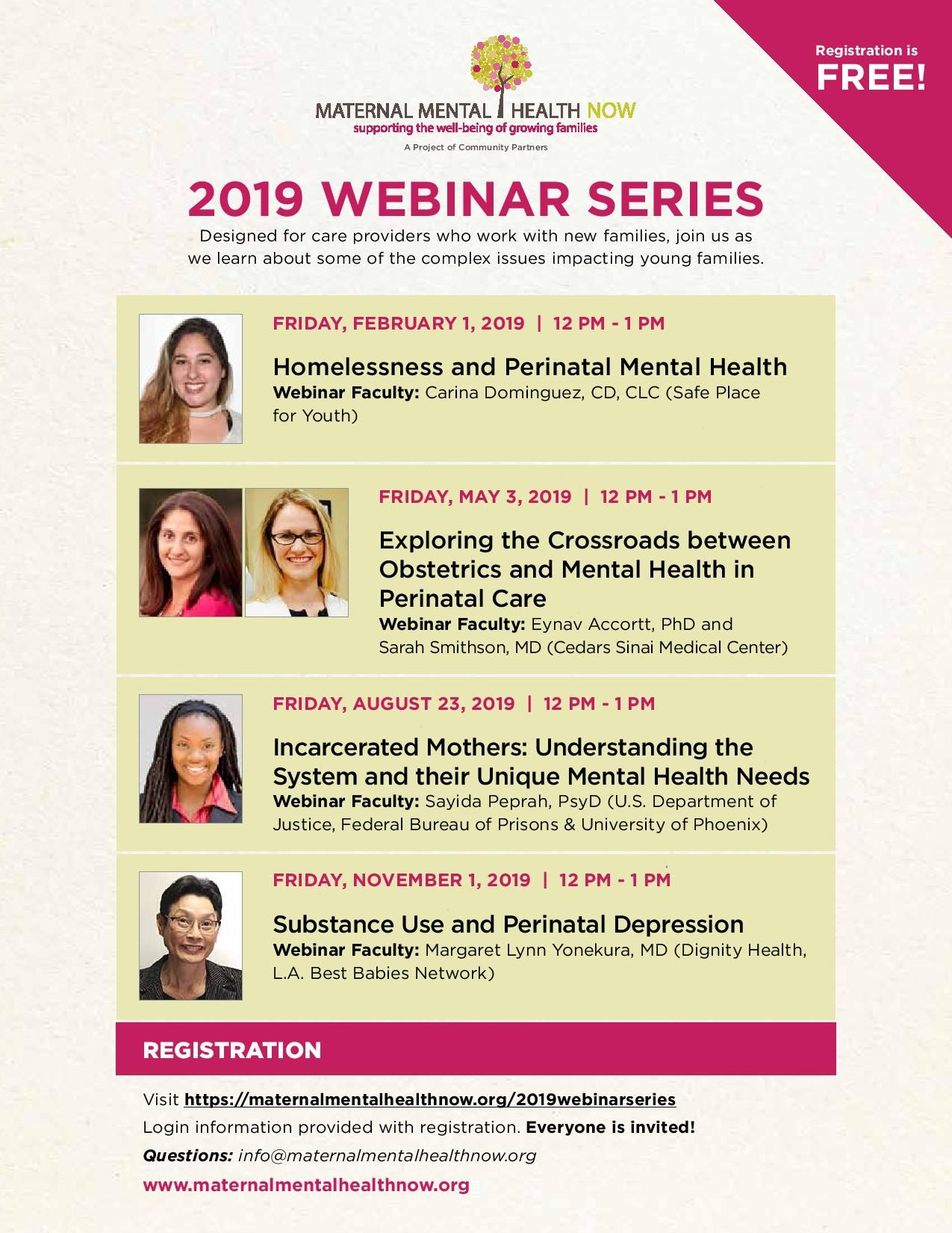 Webinarseries2019 flyer | Doula Resources | Health, Doula