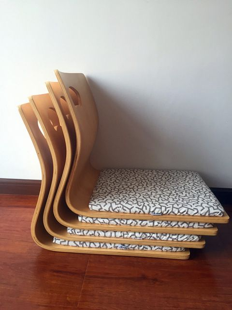 4 unids/lote) Tatami Japonés Zaisu Silla de Sala de estar Muebles de ...