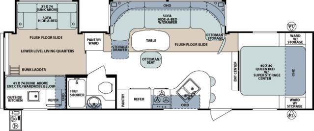 2013 Forest River Surveyor Select Floorplan Travel Trailer