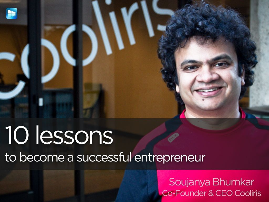 10 lessons to become a successful entrepreneur
