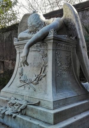 Angel of grief. Cimitero acattolico, Rome.
