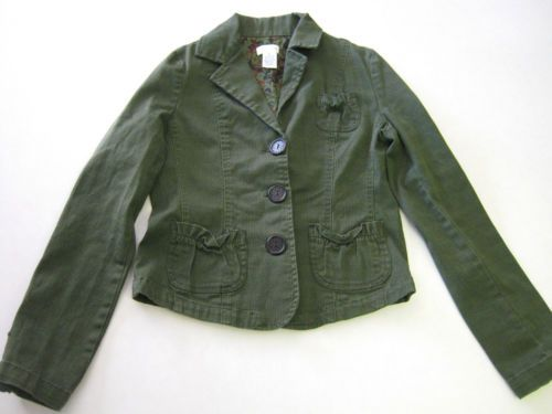 Womens Juniors Jacket S Small Maurices Green LS Long Sleeve