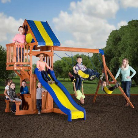 Backyard Discovery Peninsula Wooden Swing Set 3rd Birthday Pinterest