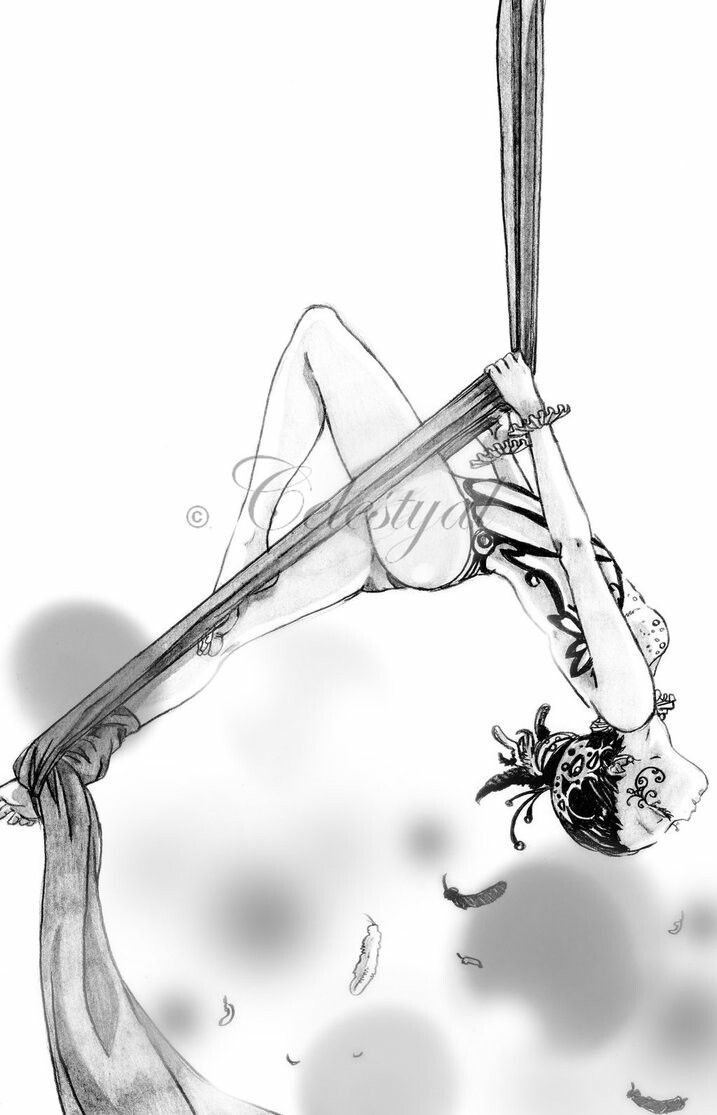 aerial circus performer. pencil on paper. I love circus with its Magic!! and you ? I Hope you like my drawing ;)