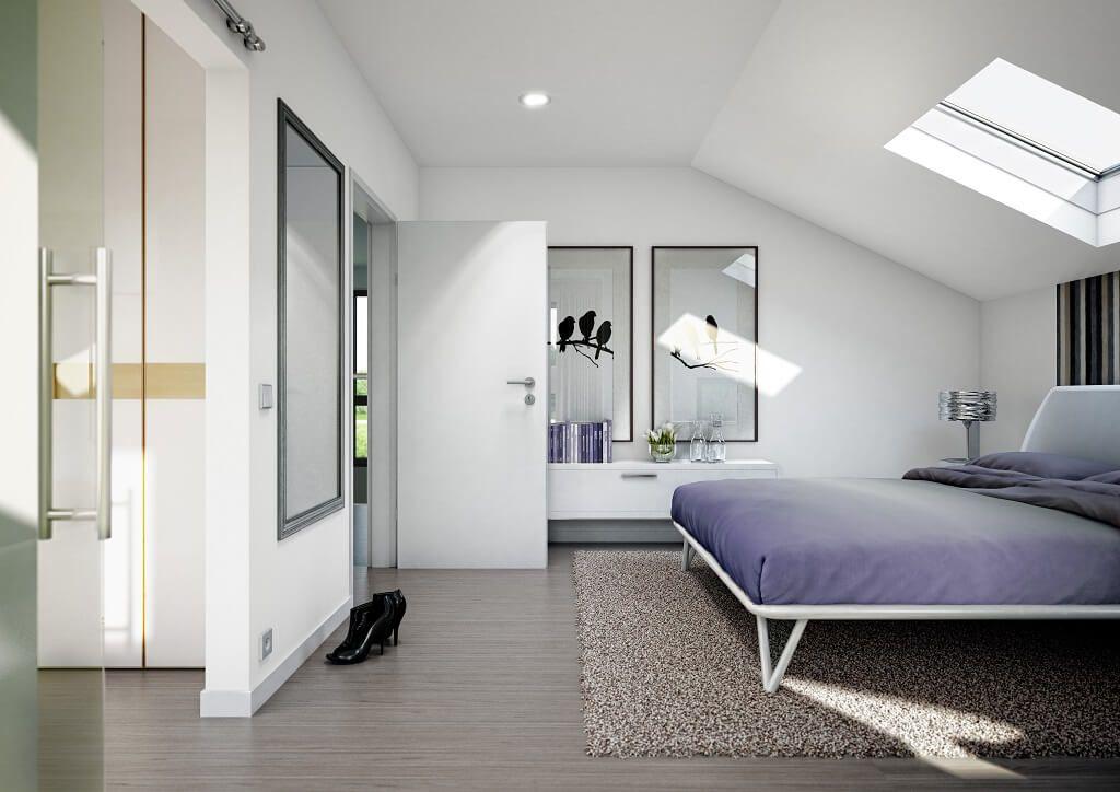 Schlafzimmer mit Dachschräge - Haus Concept-M 152 Bien Zenker - schlafzimmer einrichten 3d