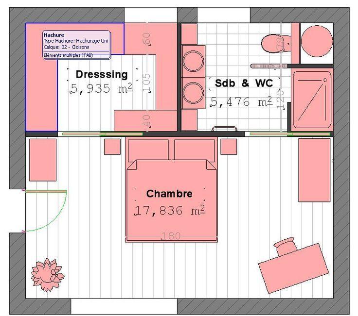 52089d01dc8e28edcfa9e3006bf8bd8d Jpg 736 651 Plan Suite Parentale Placard Chambre Plancher De Chambre