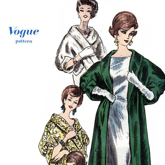 Vogue 5463 Vintage 60s Misses' Cape Stole Sewing by retrowithlana