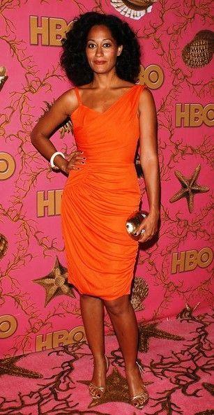 a little orange dress.