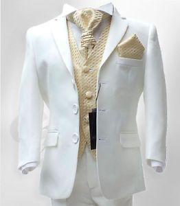 Details about UK BOYS FORMAL 4 PC CREAM & GOLD PAGEBOY COMMUNION ...