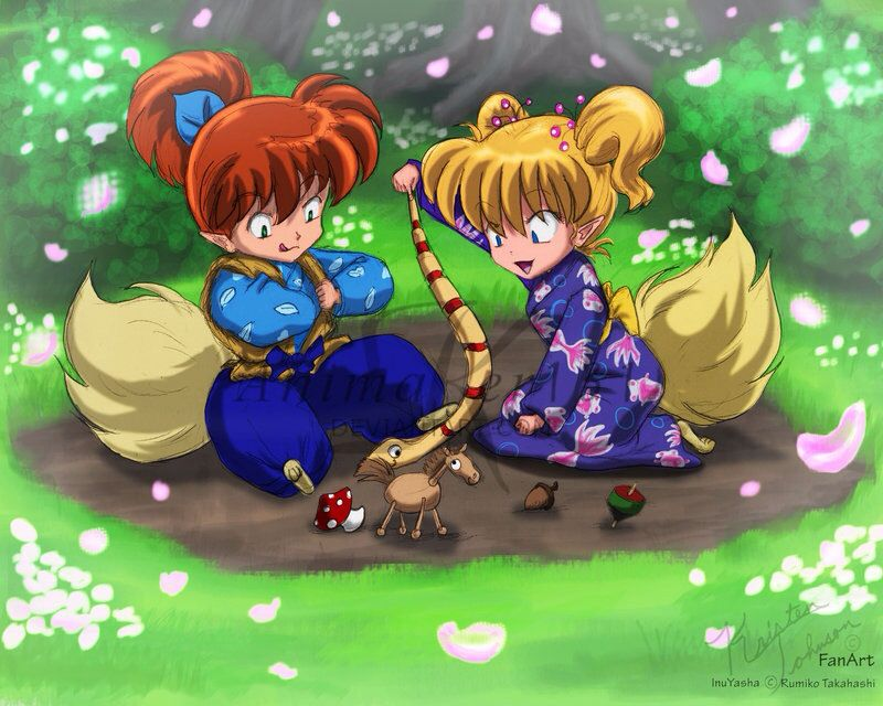 Shippo And A Little Fox Demon Girl
