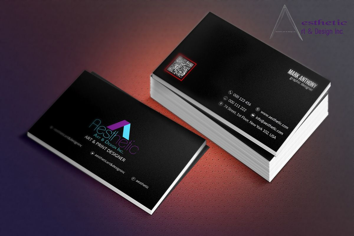 Aesthetic Business Card Template Business Card Template Premium Business Cards Business Cards