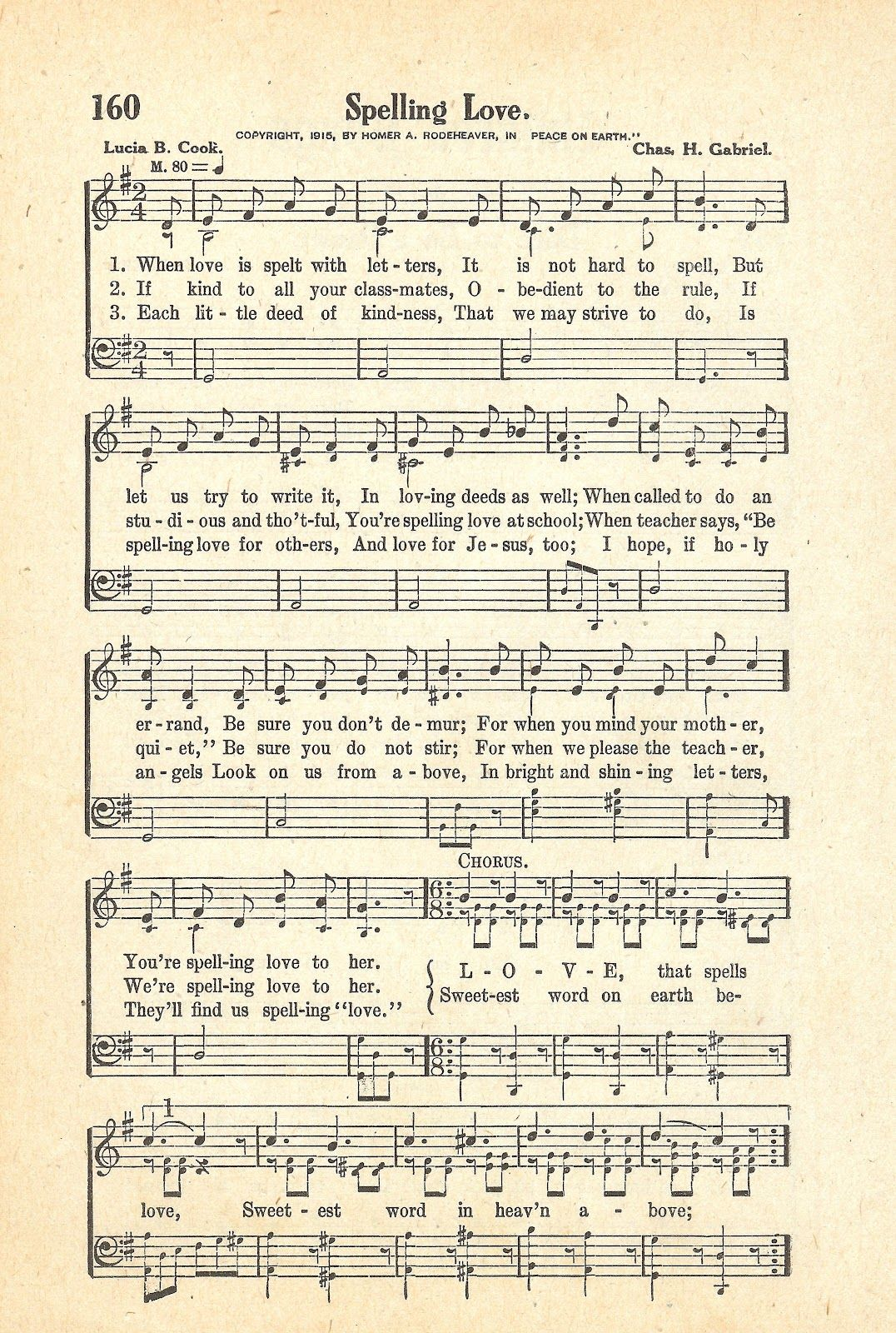 Spelling LOVE song (printable)