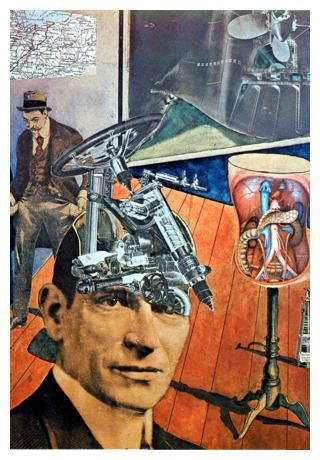 RAOUL HAUSMANN (1886-1971) 'Tatlin at Home', 1920 (collage). Dada was not a style of art like Fauvism or Cubism. It was a form of artistic anarchy born out of disgust for the social, political and cultural establishment of the time which it held responsible for Europe's descent into World War 1.