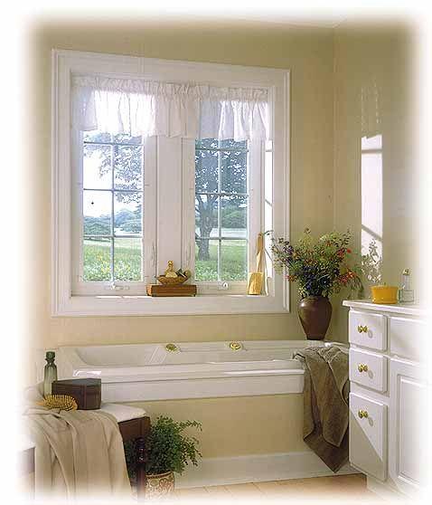 Visit The Andersen Windows Bathroom Window Door Photo Gallery To See How Casement Windows Aw Bathroom Window Treatments Small Window Curtains Bathroom Windows