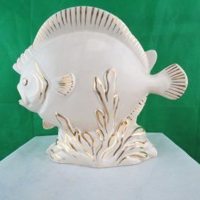 Fish Shaped Art Deco Vase By Clarice Cliff 1920's