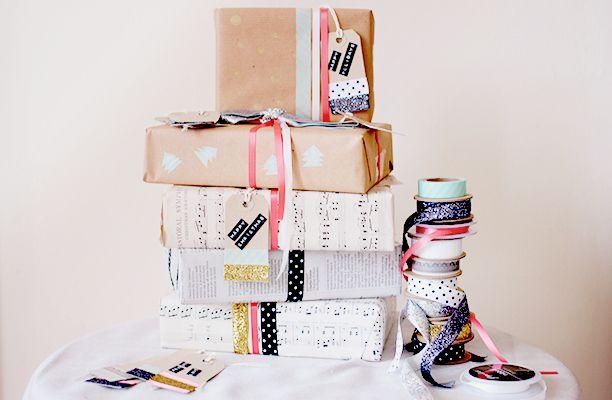DIY Homemade Christmas Wrapping Paper