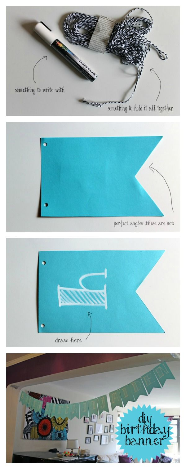 Scrapbook ideas with ribbon - Aiden S Party Diy Birthday Banner