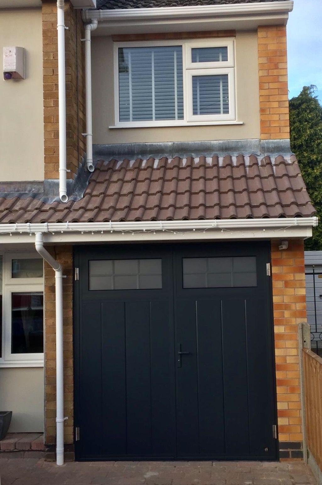 Ryterna Mid Rib Slick Traditional Shd Anthracite Grey Sectional Garage Doors Garage Doors Garage Door Insulation