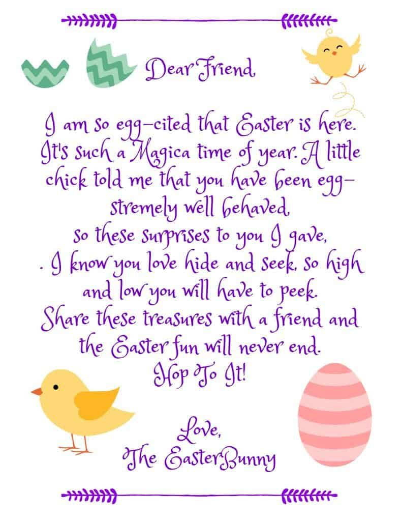 Easter Bunny Letter Easter Bunny Letter Easter Diy Easter Printables Free