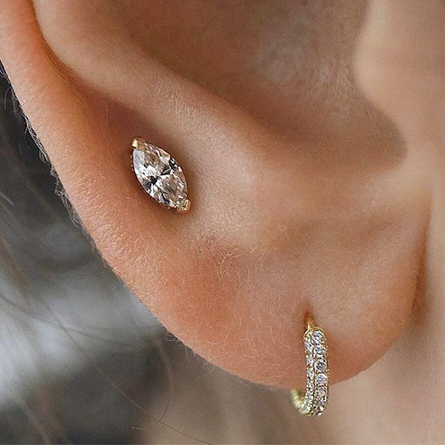 d114359b1 7mm Marquise Diamond Threaded Stud (Helix)   Jewelry wishlist ...