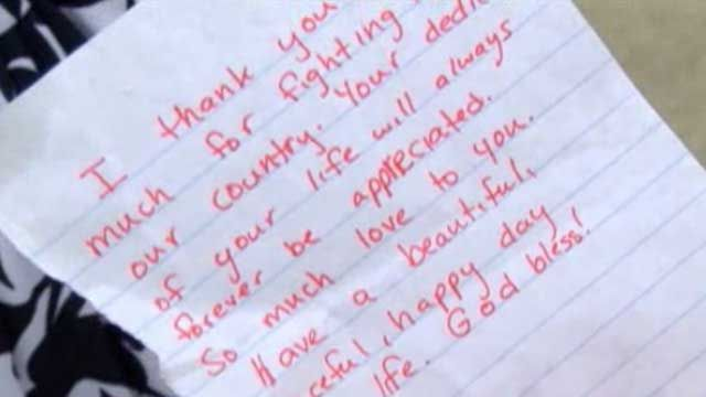 a vietnam veteran is looking to thank the person who anonymously made his day