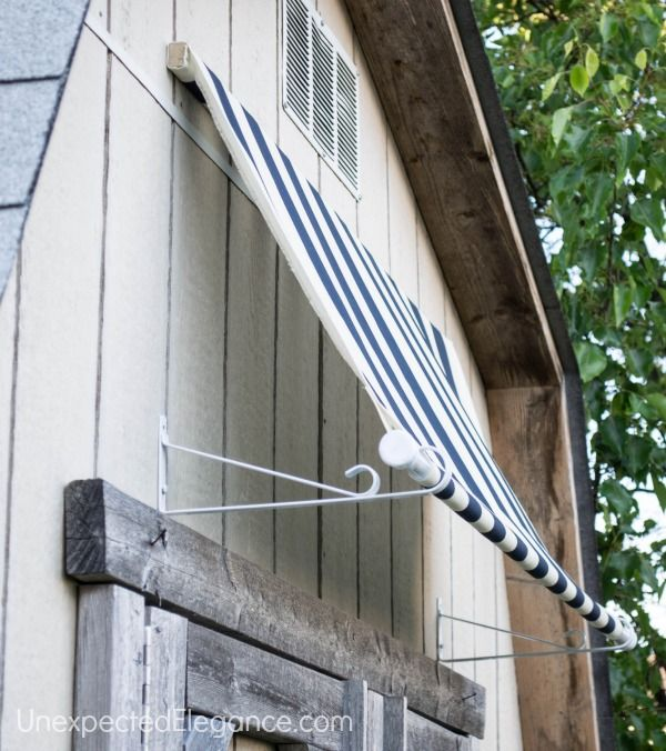 Do It Yourself Fabric Awning! How Cute And Easy! Must Buy Something That  Repels Water For The Patio Slider!