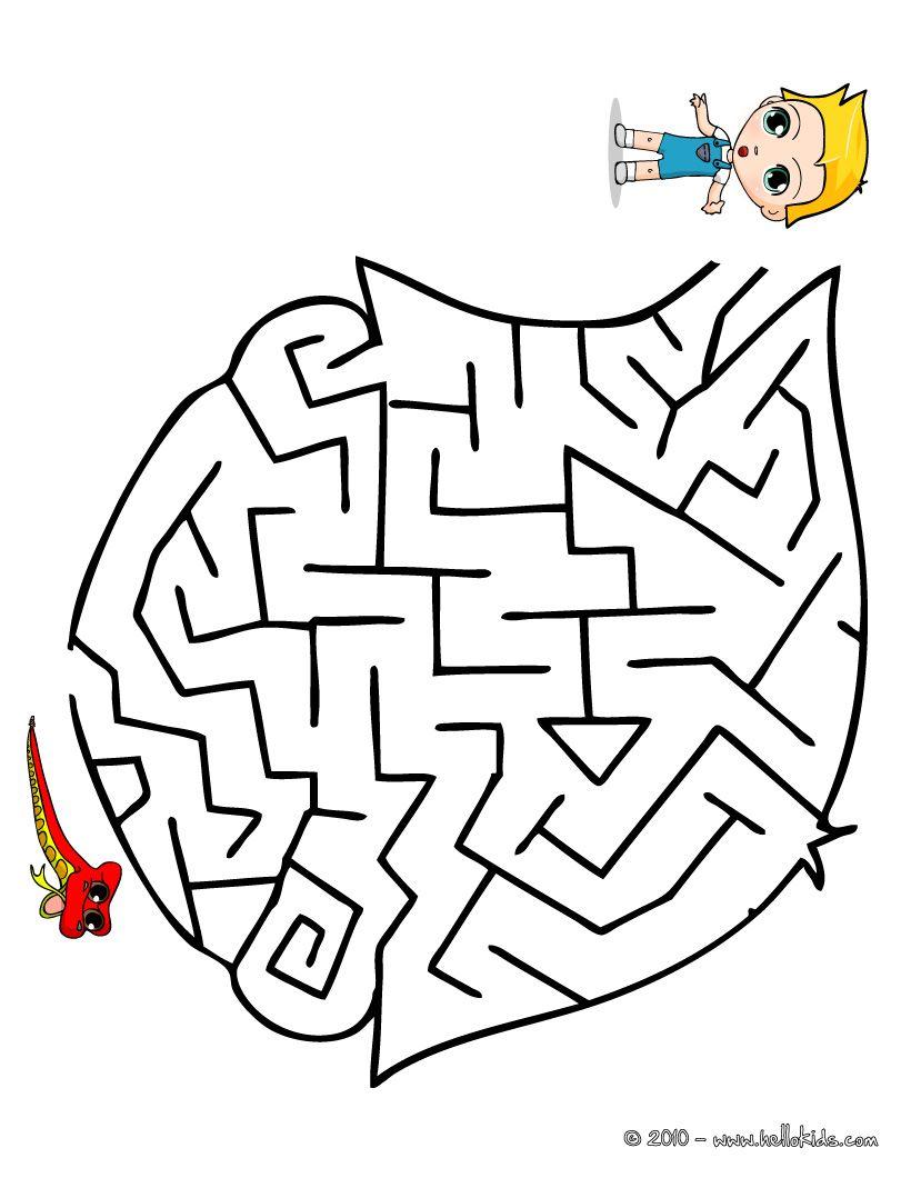 FIND MY TOY easy printable maze printable worksheet