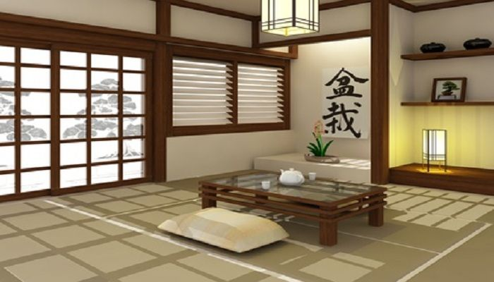 une d co asiatique pour rester zen salon japonais. Black Bedroom Furniture Sets. Home Design Ideas