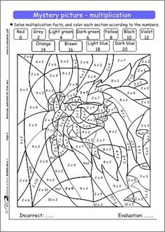 multiplication coloring sheets on mystery picture multiplication 1 jpg - Halloween Math Coloring Sheets