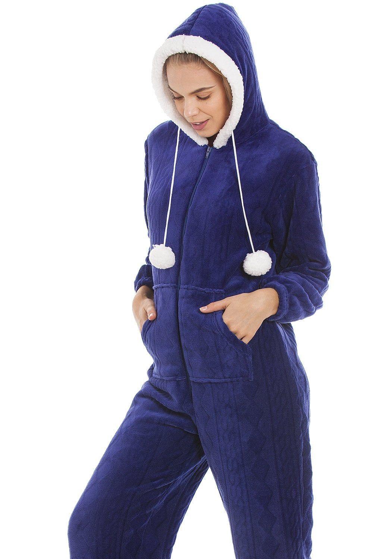 4ddcacbba Blue Luxury Super Soft Fleece Hooded Onesie